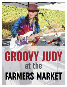 Groovy Judy at the Farmers Market